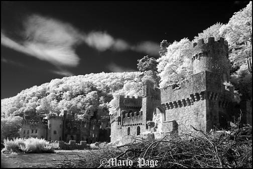 Gwrych castle, Wales, England