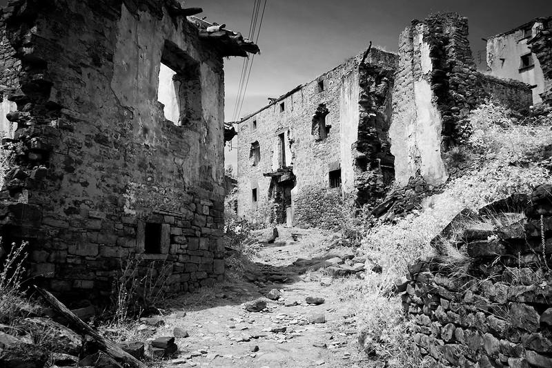 Abandoned village of Esco, Aragon