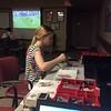 Serena puts together Lego Mindstorms during Teen Lounge