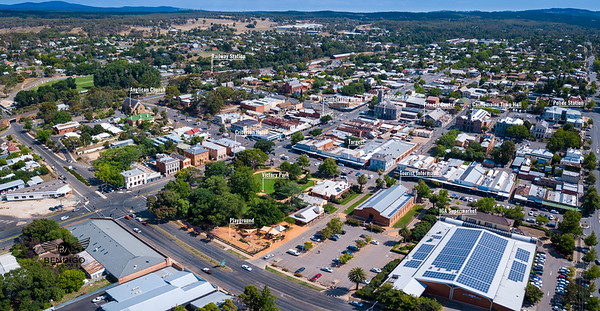 Castlemaine CBD Aerial View + Annotations