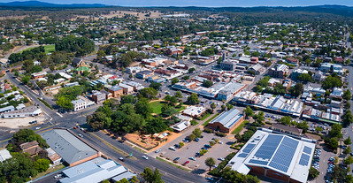 Castlemaine CBD Aerial View