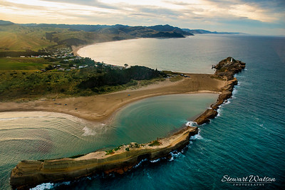 The lagoon at Castlepoint