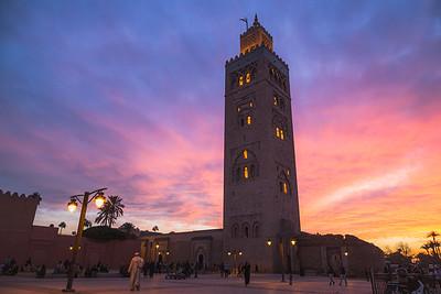 Koutoubia Mosque. Marrakech, Morocco