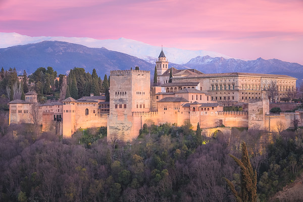 Sunset View of the Alhambra. Granada, Spain