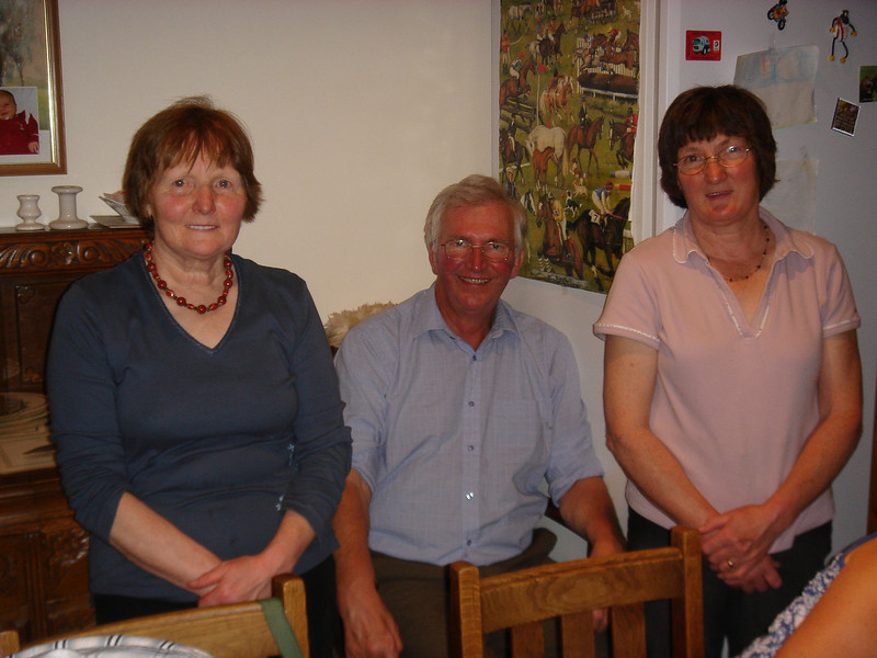 Lliswerry's faithful back up team.<br /> Mary, Jim and Ethel.<br /> No challenge is too large, not even 14 tired & hungry runners.