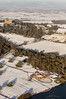 Aerial photo of Belvoir Castle in Snow-5