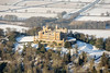Aerial photo of Belvoir Castle in Snow-6