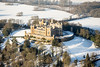 Aerial photo of Belvoir Castle in Snow-8