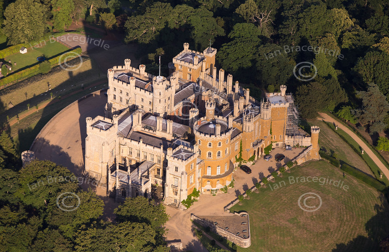 Belvoir Castle from the air.