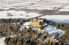 Aerial photo of Belvoir Castle in Snow-3