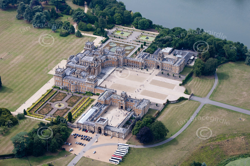 Blenheim Palace from the air.