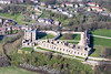 Bolsover Castle in Derbyshire from the air.