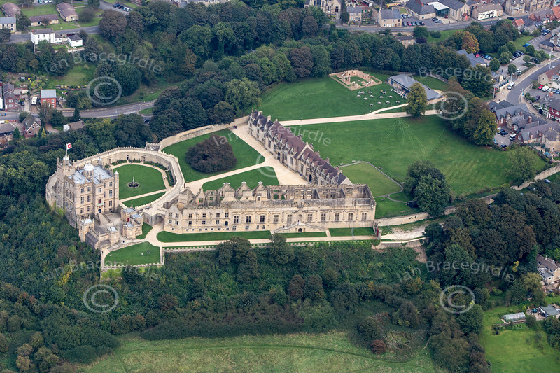 Aerial photo of Bolsover Castle-1