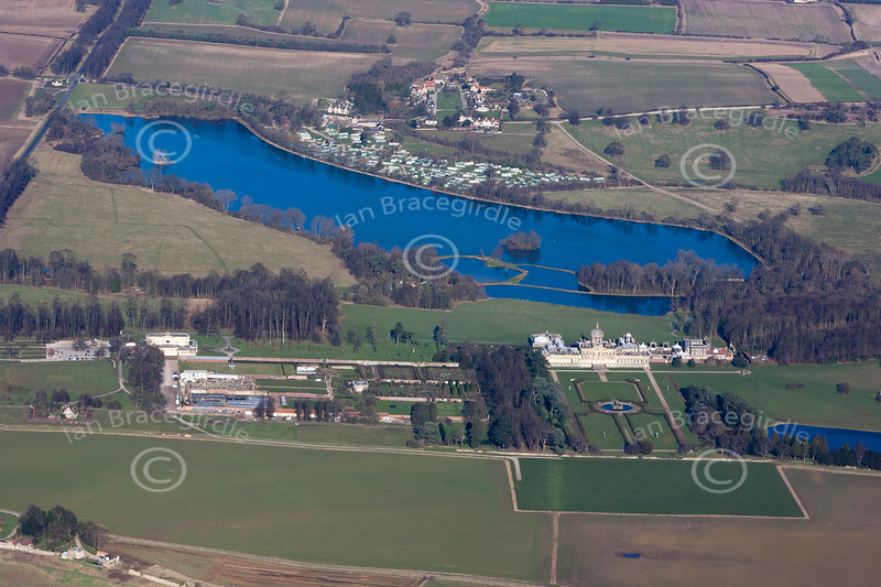 An aerial photo of Castle Howard.
