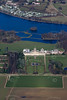 Aerial photo of Castle Howard in Yorkshire.