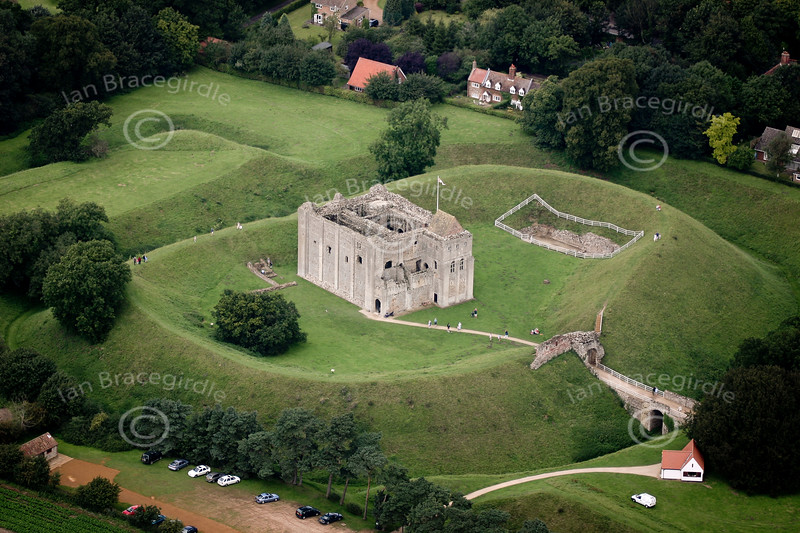 Aerial photos of Castle Rising near Kings Lynn.