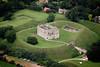 Aerial photos of Castle Rising near Kings Lynn.