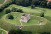 An aerial photo of Castle Rising in Norfolk