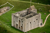 Aerial photo of Castle Rising in Norfolk