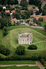 A stock aerial image of Castle Rising in Norfolk