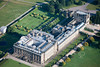 Chatsworth House from the air.