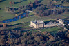 Aerial photography of Chatsworth House in Derbyshire.