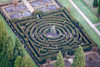 Chatsworth House maze from the air.