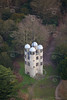 Chatsworth House folly from the air.