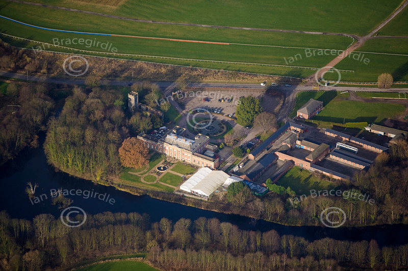 Aerial photo of Colwick Hall Hotel in Nottinghamshire.