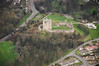 Aerial photo of Conisbrough Castle in South Yorkshire.