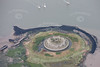 An aerial photo of Darnet Fort.