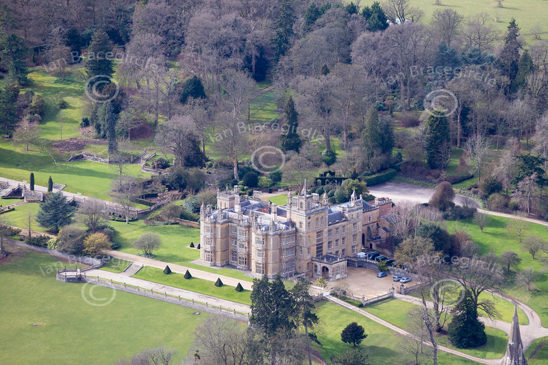 Aerial photo of Englefield House.