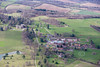 Aerial photo of Englefield House and Englefield village.