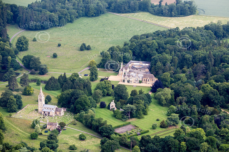 Exton Park near Oakham from the air.