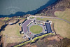 Fort Popton in South Wales from the air.
