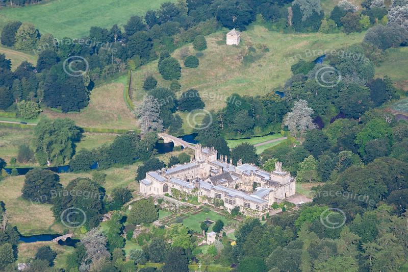 Aerial photo of Hadden Hall.