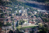 Aerial photo of Lincoln Castle and Cathedral.