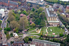 Nottingham Castle from the air.