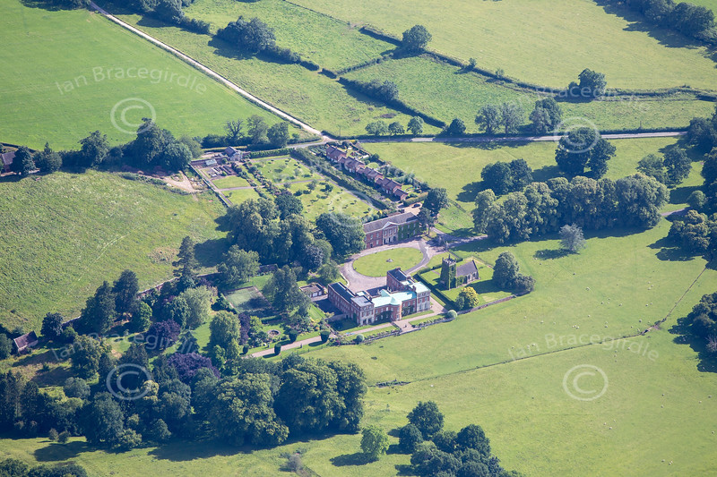 Aerial photo of Okeover Hall