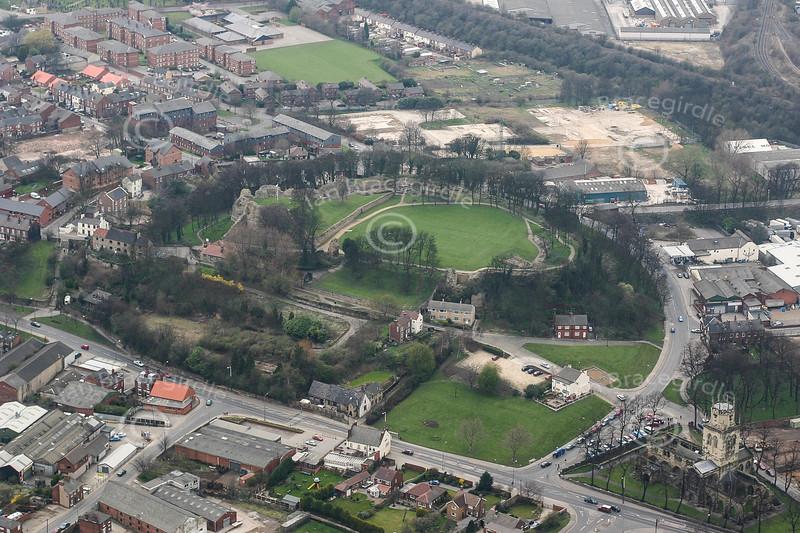 Aerial photo of Pontefract Castle-1