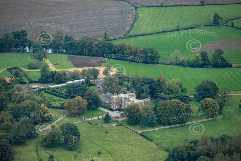 Aerial photo of Quenby Hall.