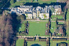 Aerial photography of Renishaw Hall near Eckington in Derbyshire.