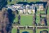 Aerial photography of Renishaw Hall near Eckington in Derbyshire.