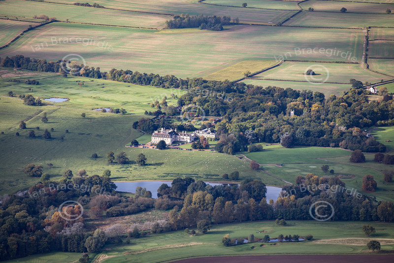 Aerial photo of Stapleford Park.