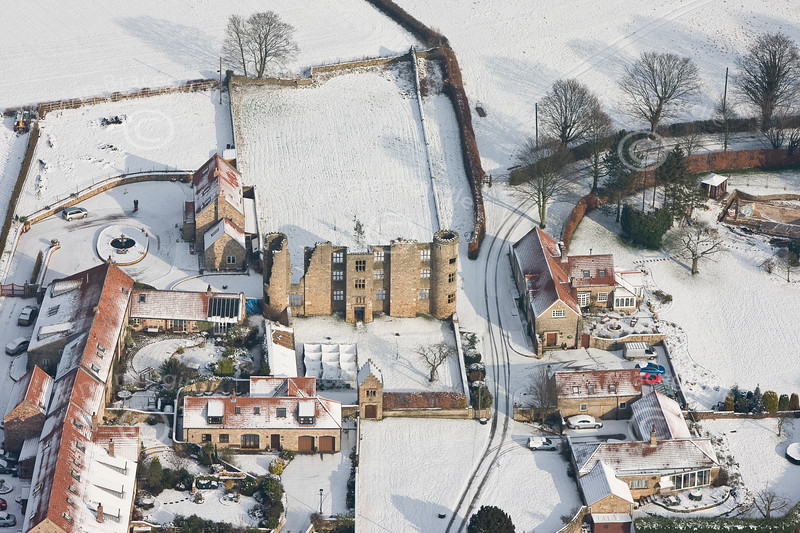 Aerial photo of Thorpe Salvin Hall-1