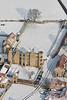 An aerial photo of Thorpe Salvin Hall.
