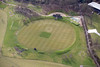 Aerial photo of Wormsley Estate cricket ground.