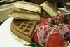 草莓奶油鬆餅@Melange