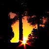 Dusk Beams In Fading Light