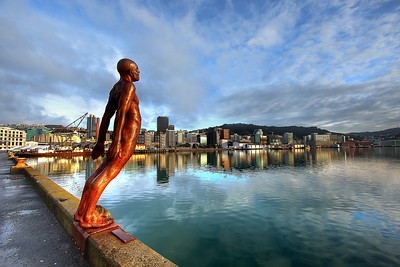 I love this sculpture by artist Max Patte. I visit it every time I go to Wellington but I always seem to catch it in the morning. I'll have to make a return trip one day to catch it with the evening light behind it. I did a bit of research about it the first time I saw it and it turns out that it was originally loaned to the city for a year in the hopes of finding a patron but has been there ever since.  John's Blog https://blog.caswellimages.com/  The latest print price guide: https://bit.ly/3oLw9OI